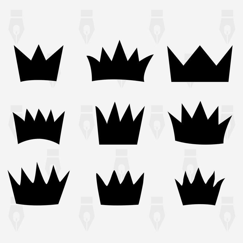 Crown svg, Crown vector, Crown digital clipart files for Design, Printing,  Cutting or more. Instant files included svg, png, dxf.