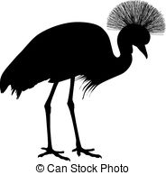 Crowned crane Vector Clipart Illustrations. 79 Crowned crane clip.