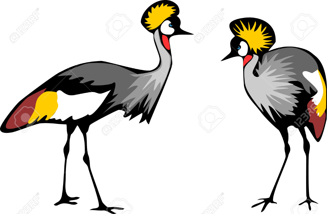 Crowned Crane Royalty Free Cliparts, Vectors, And Stock.