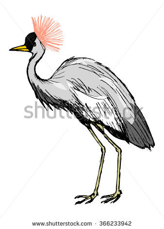 Crested Crane Stock Photos, Royalty.