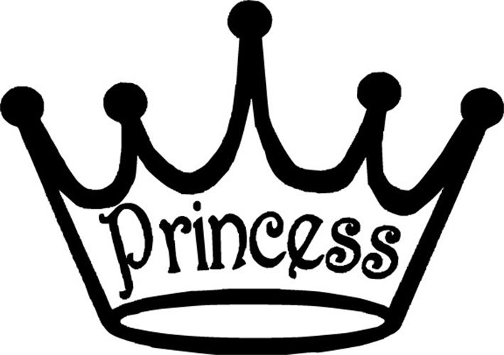 Princess crown clipart black and white 2 » Clipart Station.