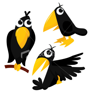 Clipart of a crow.