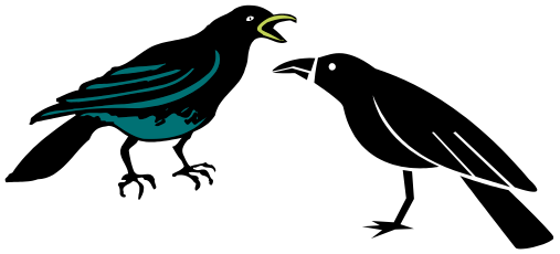 Crow Falling Clipart.