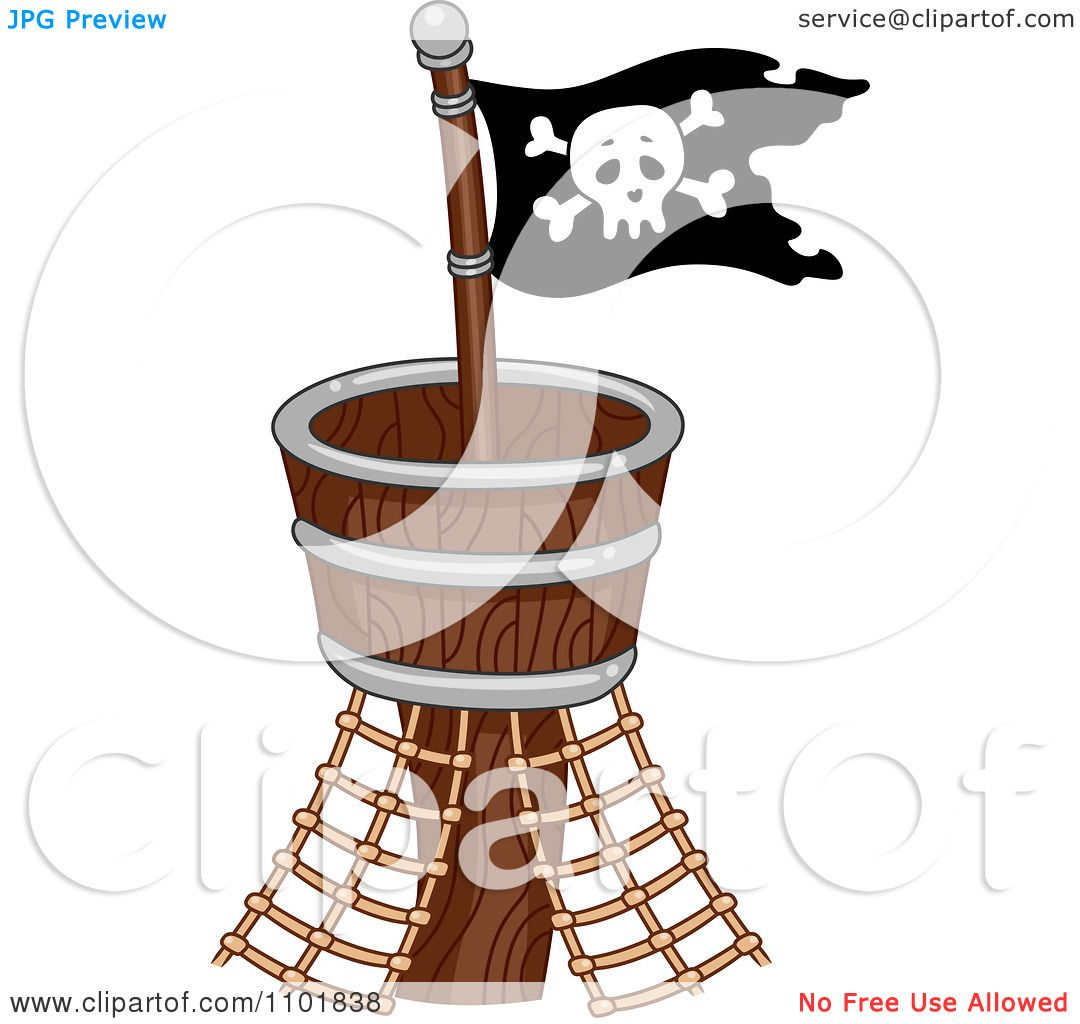 Clipart Pirate Flag On A Crows Nest.
