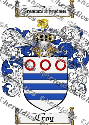 Croy Coat of Arms Croy Family Crest Instant Download.