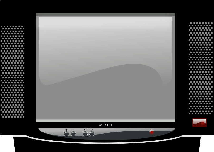 television CRT Clipart, vector clip art online, royalty free.