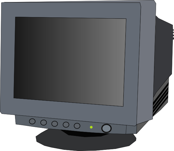 Monitor Crt clip art Free Vector / 4Vector.