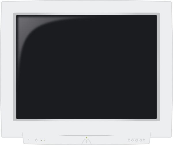 Crt Monitor clip art Free Vector / 4Vector.