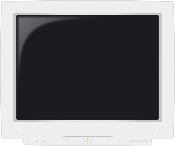 Crt Monitor clip art Free vector in Open office drawing svg ( .svg.