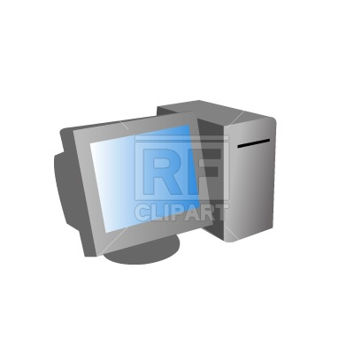 Old computer with CRT monitor Vector Image #116.