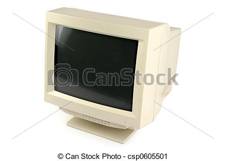 Stock Photography of crt monitor.