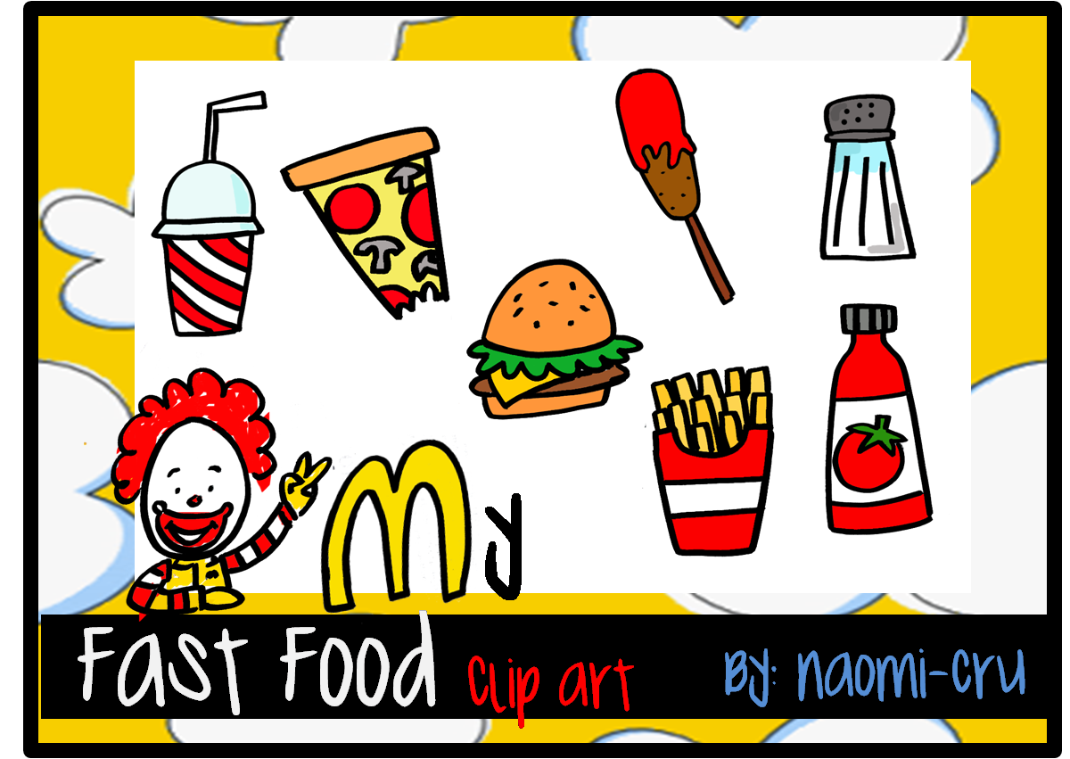 My Fast Food Clipart by naomi.