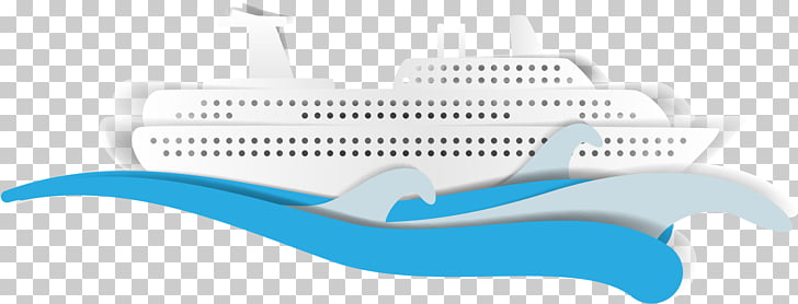 Paper Cruise ship Drawing, hand.