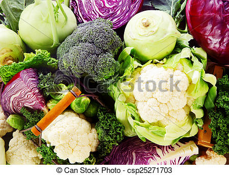 Stock Photography of Background of healthy fresh cruciferous.