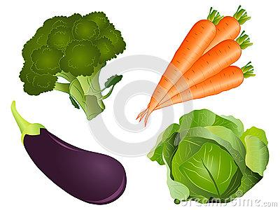 Vegetable Clipart Set Stock Photo.