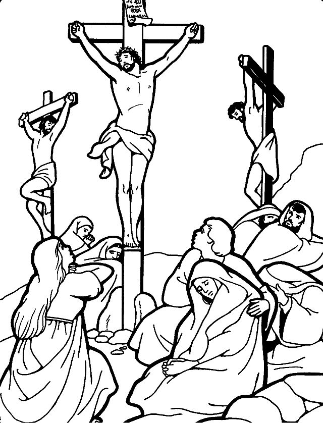 Good Friday Catholic Coloring Page.