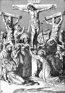 Crucifixion of Jesus Christ coloring pages and wallpapers.