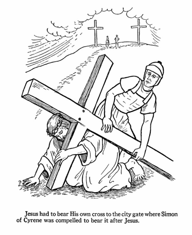 CRUCIFICTION OF JESUS COLOR PAGE CLIPART NAILS - 75px Image #17