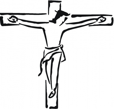 Clipart of jesus crucifixion.