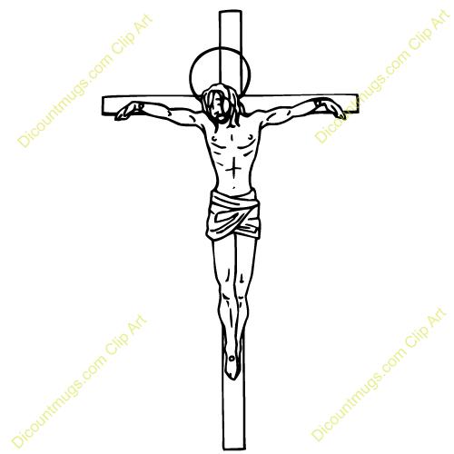 Crucifiction clip art.