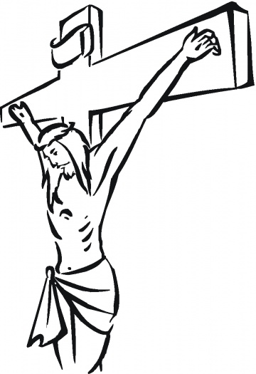 Crucifixion clipart kids.