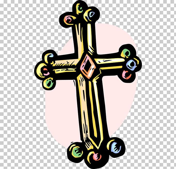 Crucifijo cruz cristiana de dibujos animados, cruz.