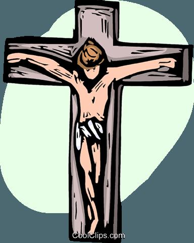 Crucifijo libres de derechos ilustraciones de vectores.