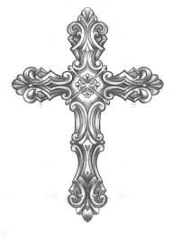 Image result for black and white cross clipart.