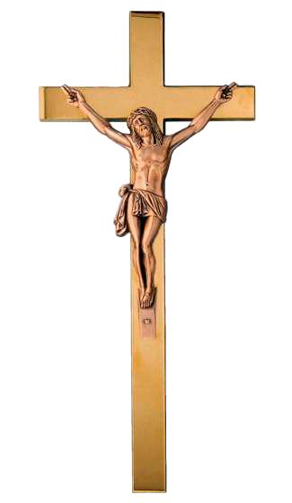 Cristo con Cruz de bronce.