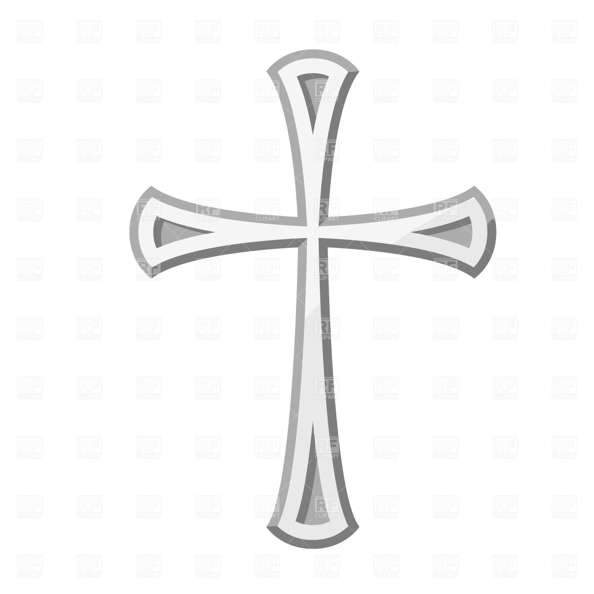 free christian cross clipart #2