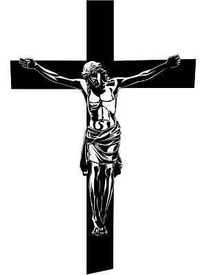 Catholic crucifix clipart.