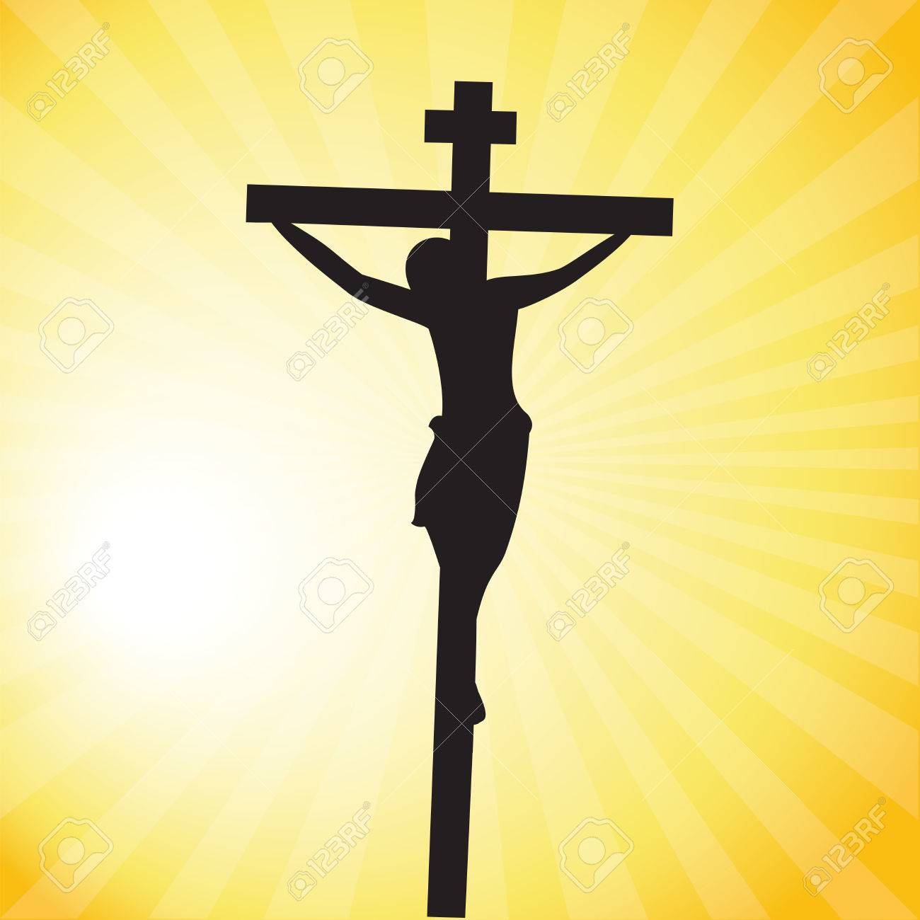 Jesus Christ crucifixion silhouette.