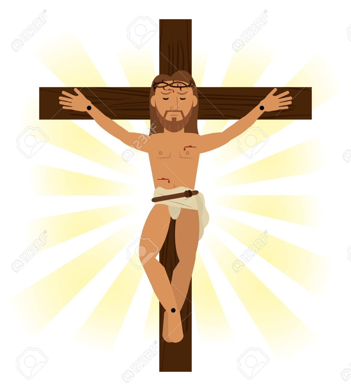jesus christ crucified religious symbol vector illustration eps...