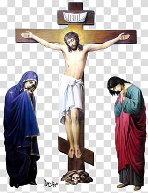 Jesus Christ illustration, Crucifixion of Jesus Christian cross.