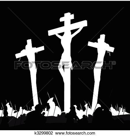 Clip Art of Jesus crucifixion.
