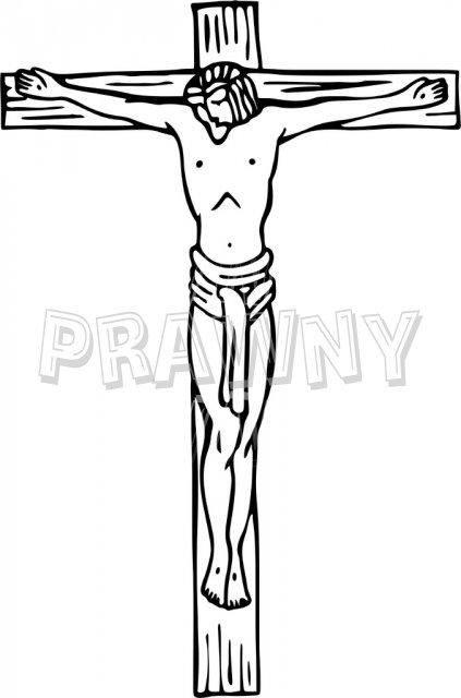 Christ Crucified at Calvary Prawny Christian Clip Art.