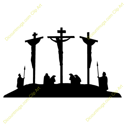 Crucifiction clip art.