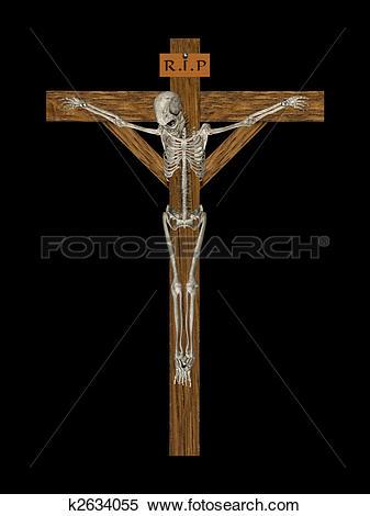 Stock Illustration of Crucify Skeleton k2634055.