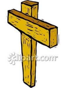Crude Wooden Cross.