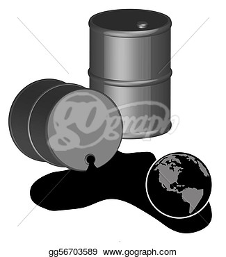 Crude Oil Spilled Clipart.