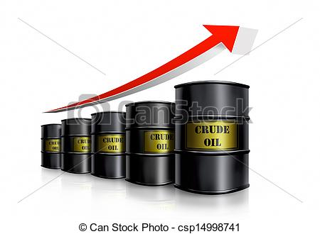 Drawings of crude oil.