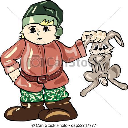 Vectors Illustration of hunter.
