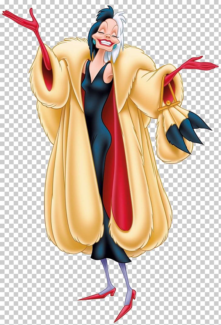 Cruella de Vil The Hundred and One Dalmatians Villain.