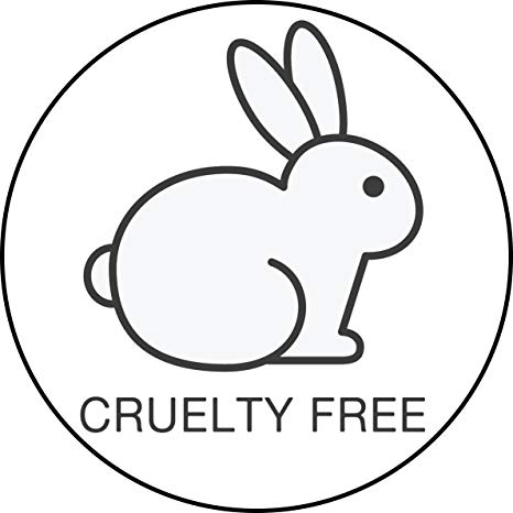 Simple Animal Friendly Vegan Cruelty Free Bunny Logo Cartoon Vinyl Sticker  (8\