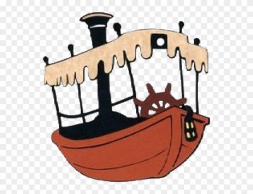 Jungle Cruise Boat Coloring Clipart (#961301).