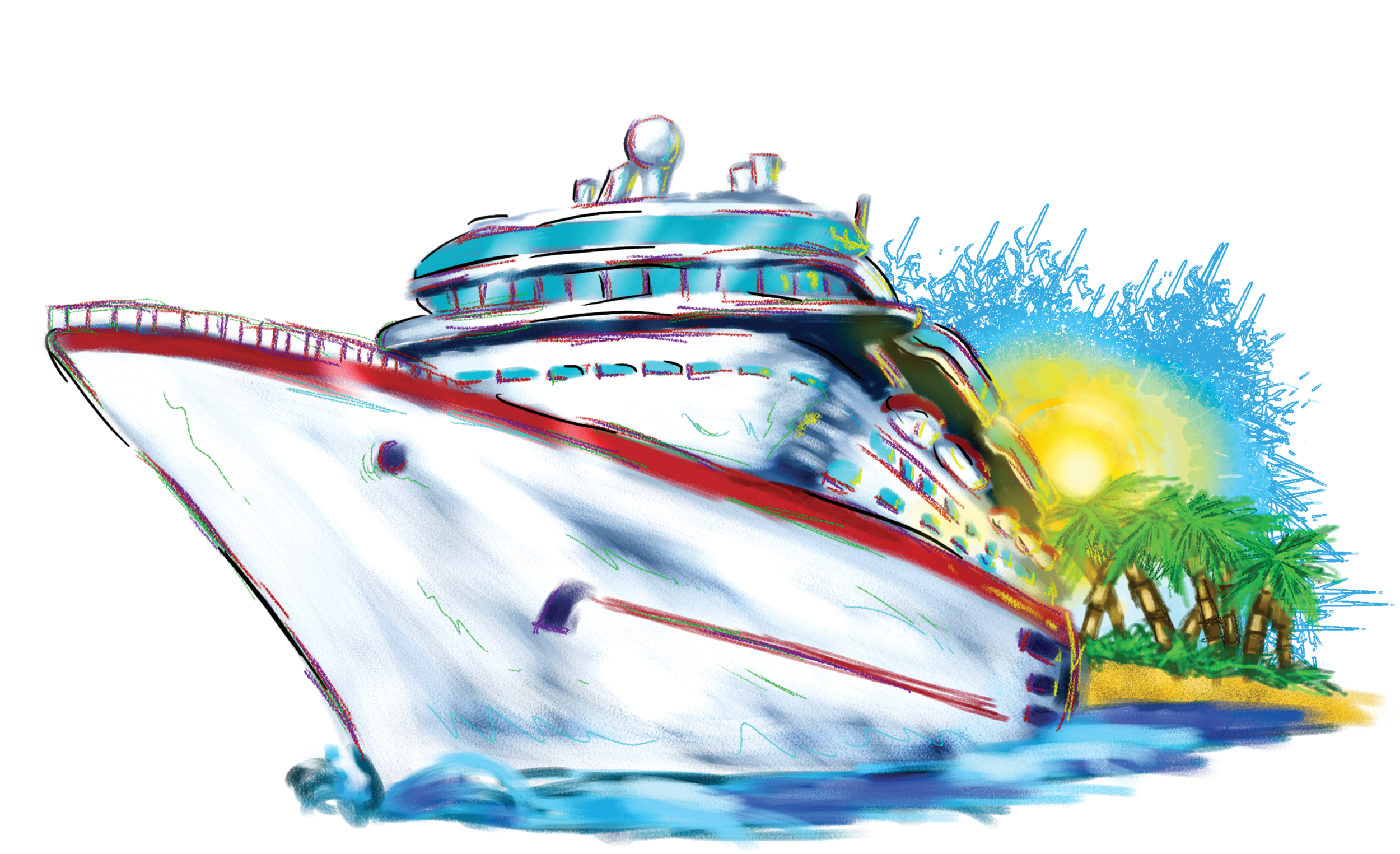 Cruise ship clipart #8