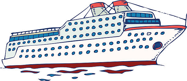 880 Cruise Ship free clipart.