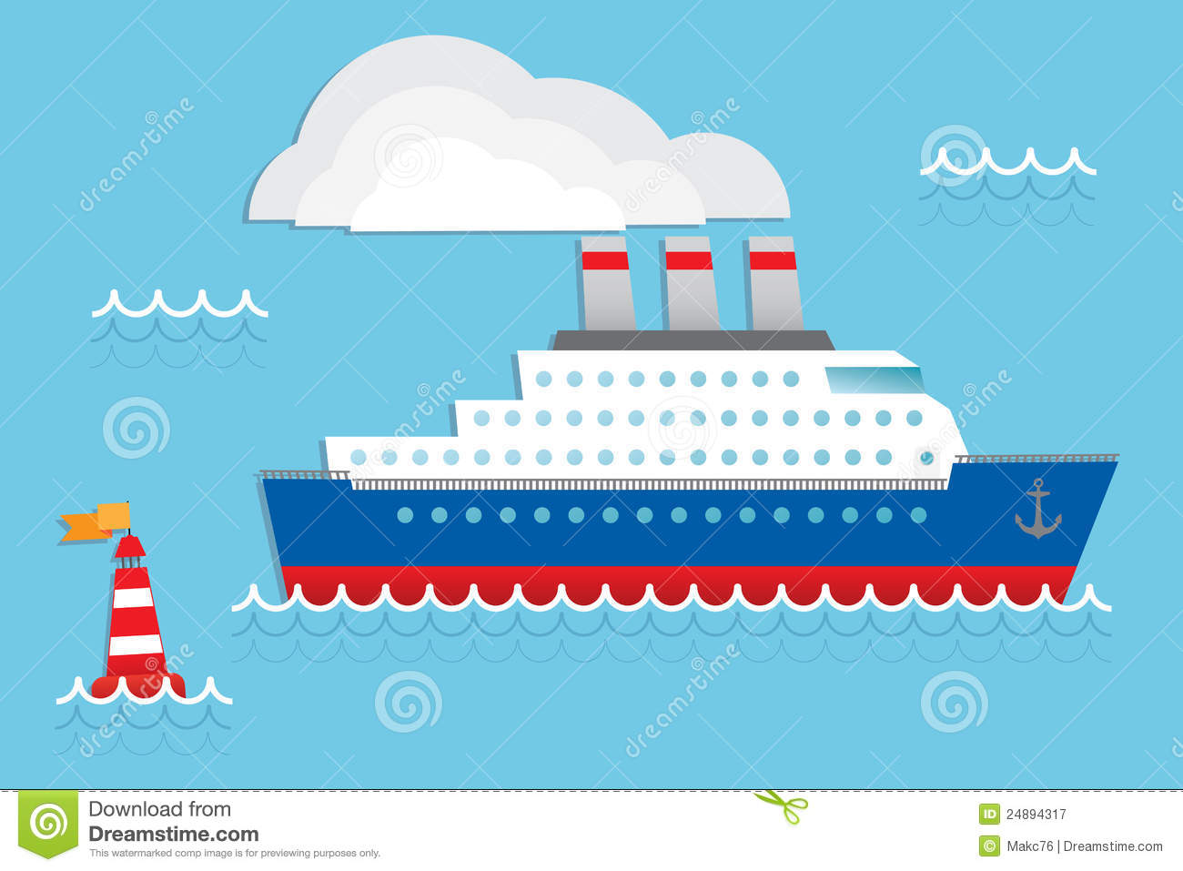 Cruise Ship Royalty Free Stock Photography.