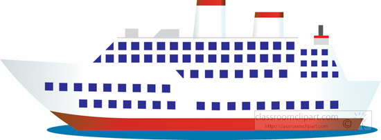 Boats and ships large passenger cruise ship clipart.