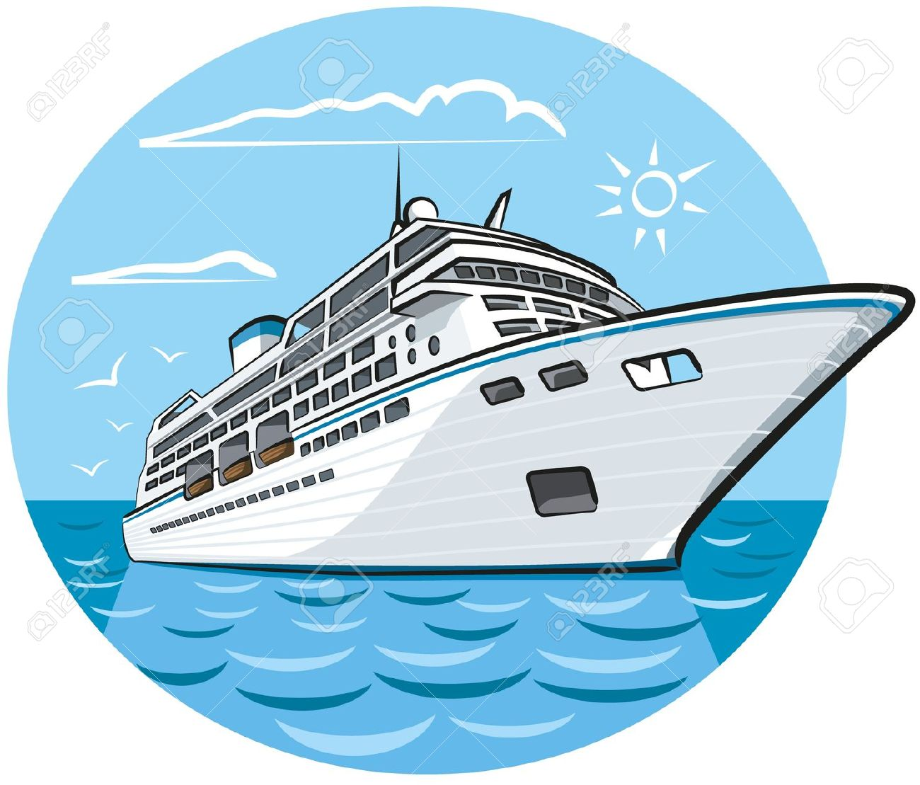 Luxury Cruise Ship Royalty Free Cliparts, Vectors, And Stock.